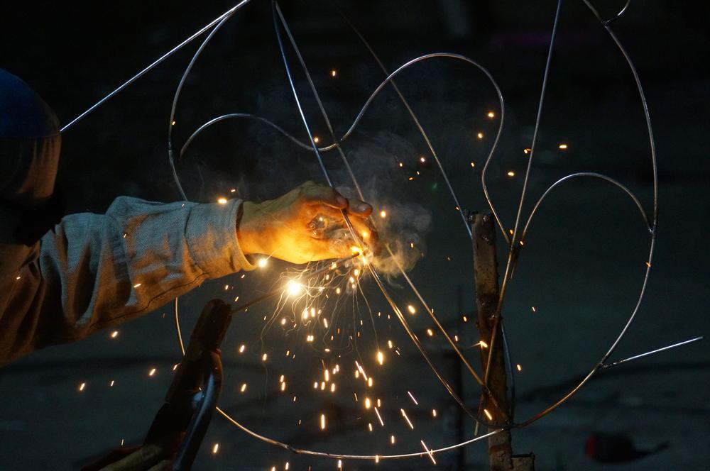 structure métallique d'art